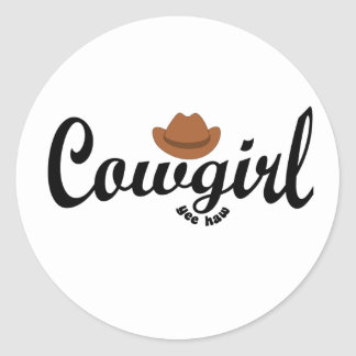 cowgirl yeehaw stickers