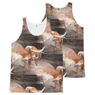 Cowgirl's All-Over Print Tank Top
