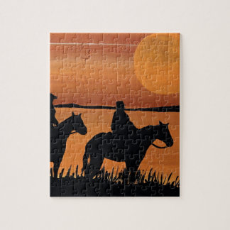 Cowgirls and horses jigsaw puzzle