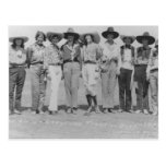 Cowgirls at Cheyenne Frontier Days, 1929. Post Cards