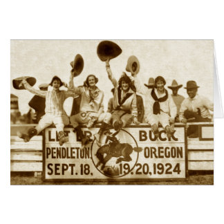 Cowgirls At The Round-Up Card
