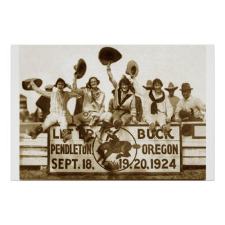 Cowgirls At The Round-Up Poster