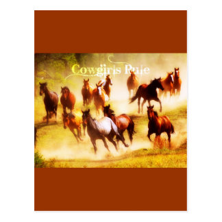 Cowgirls Rule Postcard