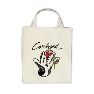 Cowhand Organic Grocery Tote Bag