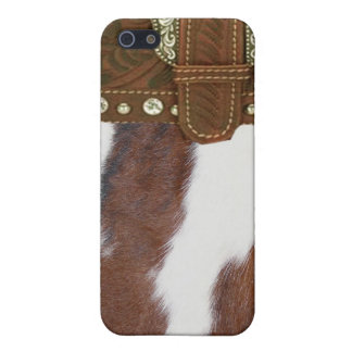 """""""Cowhide & Leather"""" Western IPhone 4 Case"""