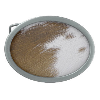 Cowhide Oval Belt Buckle
