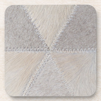 Cowhide Patchwork Coaster