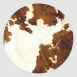 Cowhide Print Cowboy Up! Stickers