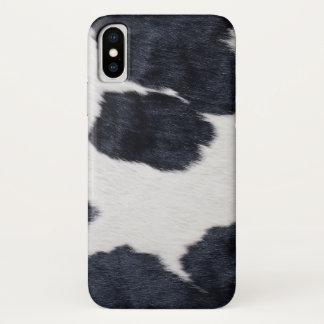 Cowhide Print iPhone X Case