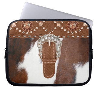 """Cowhide"" Western Laptop Sleeve"