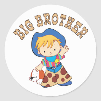 Cowkids Big Brother Classic Round Sticker