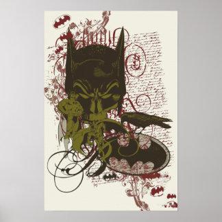 Cowl and Skull Manuscript Vintage Collage Poster