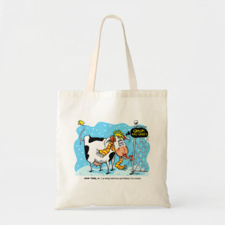 Cowlick Cow Tote Bag