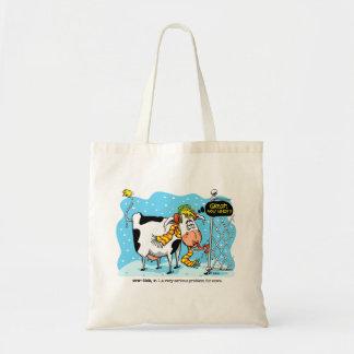 Cowlick Funny Tote Bag