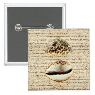 Cowrie shells pins