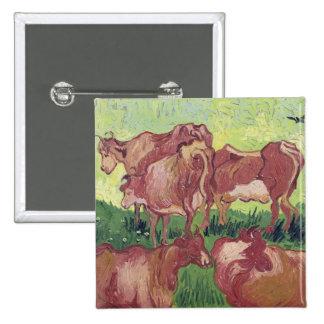 Cows, 1890 15 cm square badge