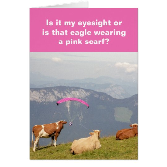 Cows-and-paraglider card