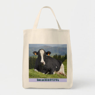 Cows are Beautiful Grocery Tote Bag