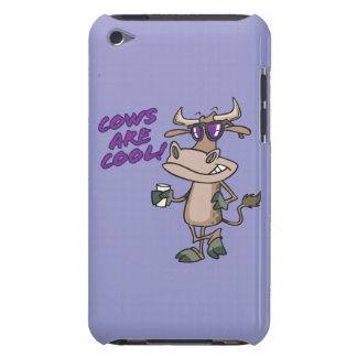 cows are cool funny animal cartoon iPod Case-Mate cases