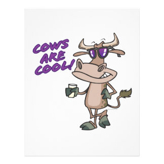 cows are cool funny animal cartoon personalized flyer