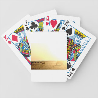 Cows at Sunrise on the Prairies Bicycle Playing Cards