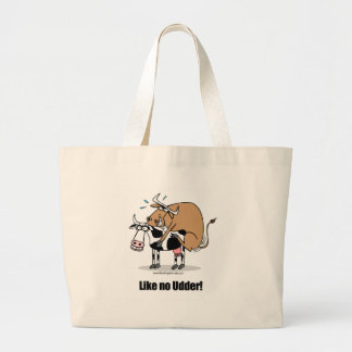 cows boinking large tote bag