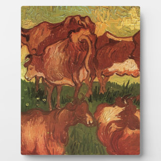 Cows by Vincent van Gogh Display Plaques