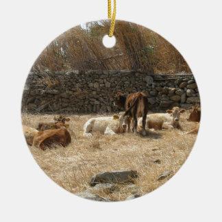 Cows Ceramic Ornament