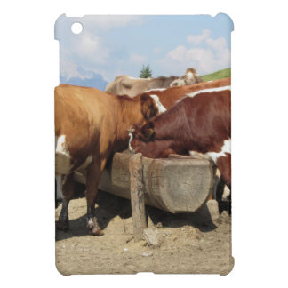 Cows drinking water from a trough iPad mini case