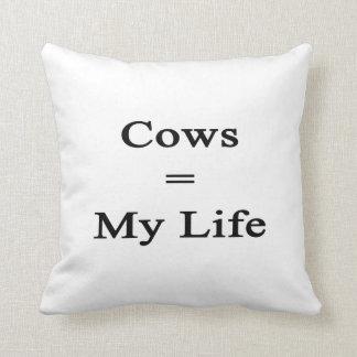 Cows Equal My Life Cushion