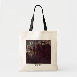 Cows In The Barn By Klimt Gustav Bag