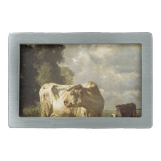 Cows in the Field by Constant Troyon Rectangular Belt Buckles