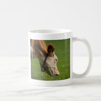 cows in the meadow basic white mug