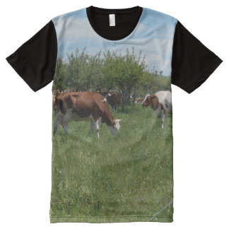Cows In The Pasture All-Over Print T-Shirt