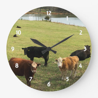 Cows In The Pasture Wall Clock
