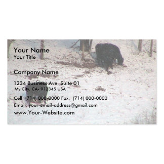 Cows In The Snow Fall Business Card Templates