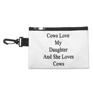 Cows Love My Daughter And She Loves Cows Accessories Bag