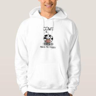 Cows make me happy hoodie