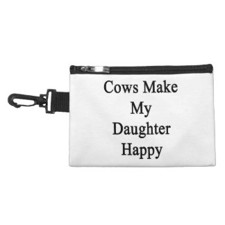 Cows Make My Daughter Happy Accessories Bags