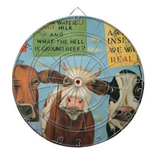 Cows On Strike Dartboard