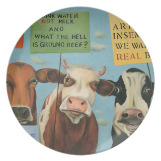 Cows On Strike Party Plates