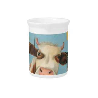 Cows On Strike Pitcher