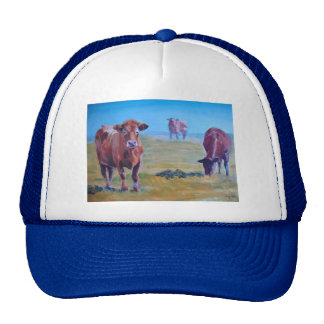 cows painting cap
