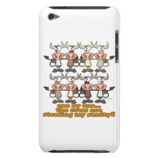 cows stealing my insanity humor cartoon barely there iPod case