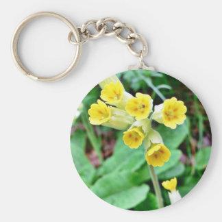 Cowslip Flower Key Ring