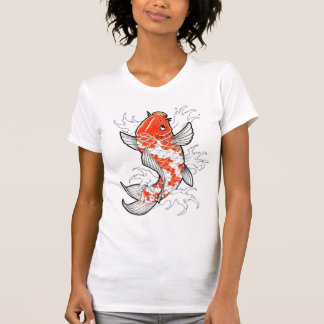 Coy Fish Tattoo Style white vintage womens tshirt