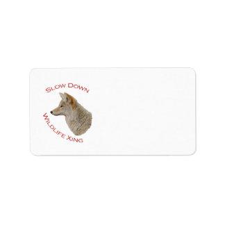 coyote address label