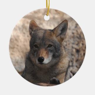 Coyote Beautiful Ceramic Ornament