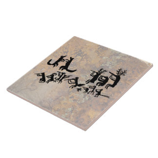 Coyote Crooners Singing to the Moon Ceramic Tile