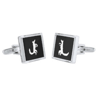 Coyote Crooners Singing to the Moon Silver Finish Cufflinks
